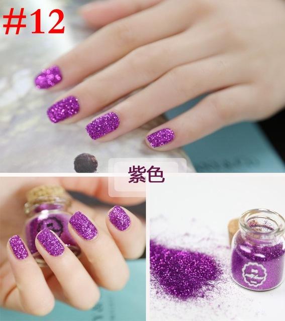 Purple Glitter Nail Art Tutorial