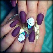 3d rose flowers nail art