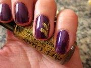 classic glitter nail art design