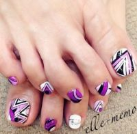 18+ Tribal Nail Art Designs For Toe Nails