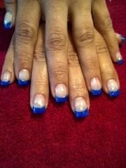 cool royal blue nail art design