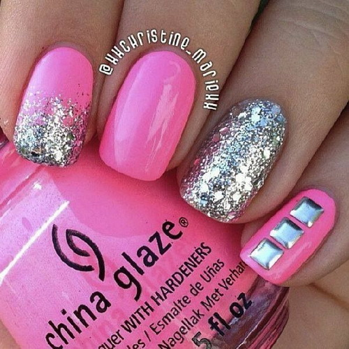 Easy Stripes With Glitter Nail Art This Is Such A And Fun Mani 4 Step By