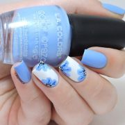 blue nail art design ideas
