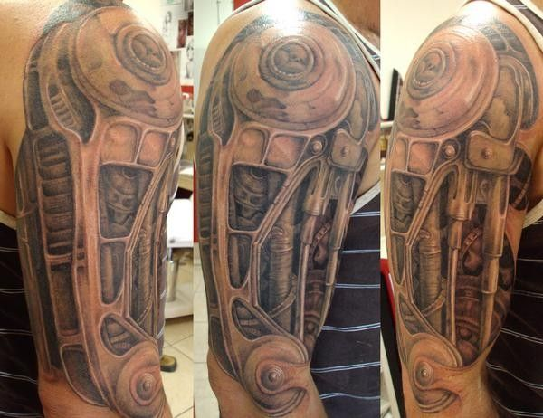 Biomechanical Arm Tattoo Sleeve