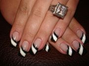 latest black and white nail