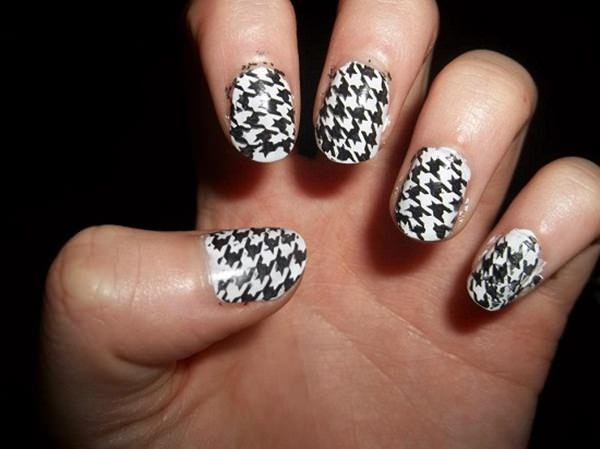 Salon Perfect Pastels Freehand Houndstooth Pastel Nail Art 1