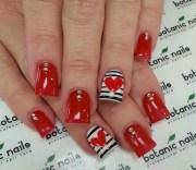 latest heart nail art design