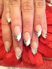 black and white design edge nail
