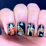 chinese dragon nail art design