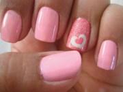 beautiful heart nail art