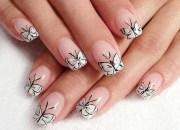 beautiful butterfly nail