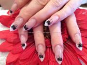 stylish edge nail art