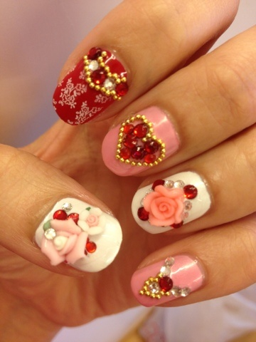 3d Chinese Nail Design Idea
