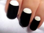 black and white moon nail
