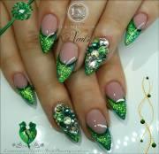 incredible green nail art