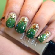 beautiful green nail art