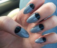 23 Beautiful Black Half Moon Nail Art Design Ideas