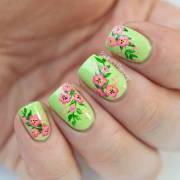 beautiful green nail art