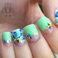 55+ Stylish Green Nail Art Design Ideas For Trendy Girls