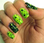 stylish green and black