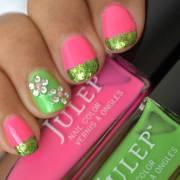 stylish green nail art design