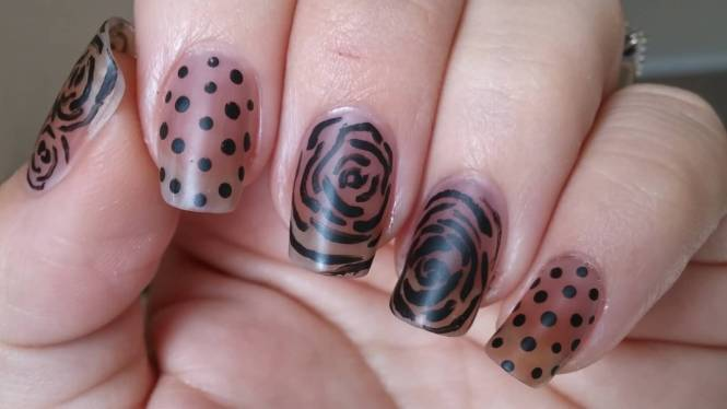 Chic Rose Flower Nail Art Sting Template Image Plate Born Pretty Bp65
