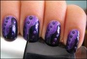 cool purple nail art design