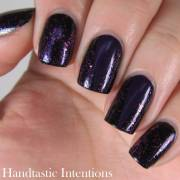 dark purple nail art design