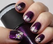 dark purple nail art design