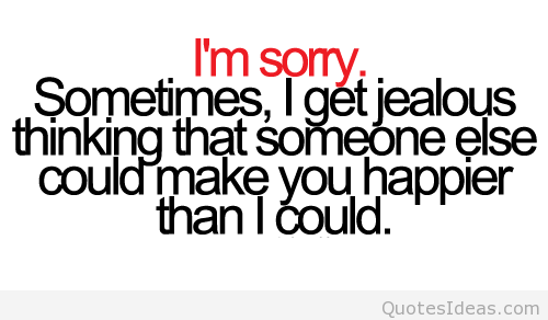 I'm sorry sometimes i get a little jealous thinking that