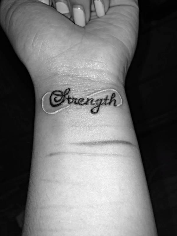 nice wrists strength tattoos