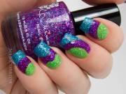 stylish purple nail art