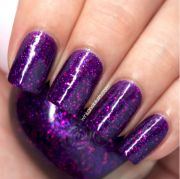 purple nail art design