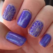 latest purple nail art design