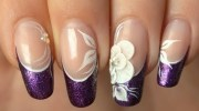 stylish purple nail art