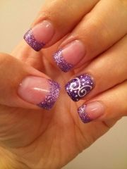 cool purple french tip nail