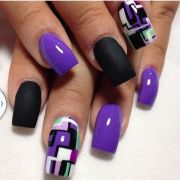 latest purple nail art design