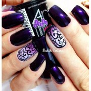 cool purple nail art design