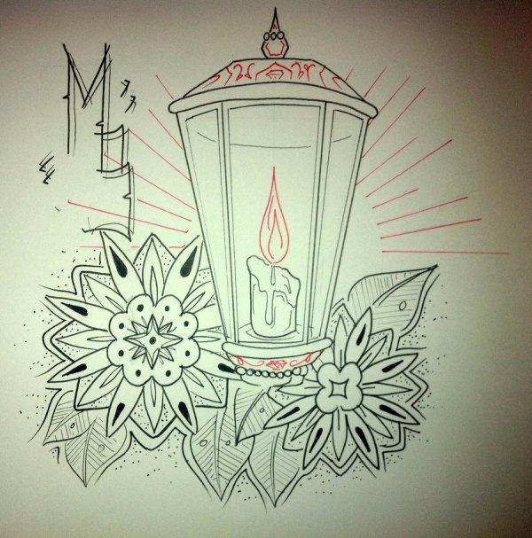 lantern tattoos design