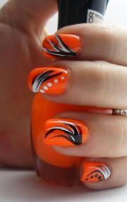 beautiful orange nail art