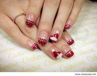 Santa Claus Face Christmas Nail Art For Short Nails
