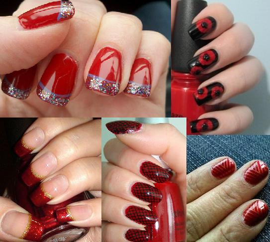 Red Nail Art Designs 29