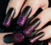 classy gradient nail art design