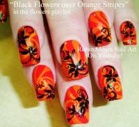 55 Most Beautiful Orange Nail Art Design Ideas