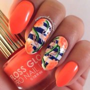 stylish orange nail art design