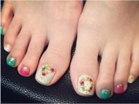 40 Most Beautiful Christmas Nail Art Ideas For Toe Nails