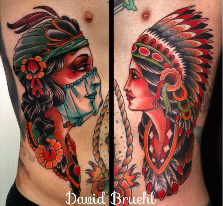 Traditional Native American Woman Tattoo