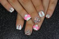 Outstanding Pink Acrylic Nails With Diamonds Elaboration ...