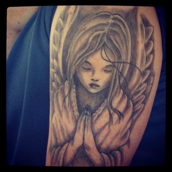 praying angel tattoos