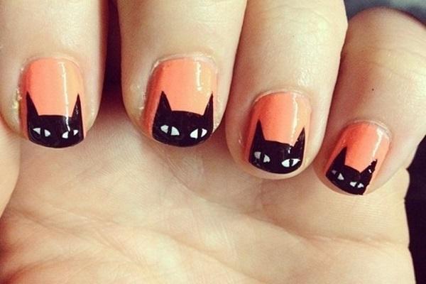 Black Cat Nail Art Tutorials